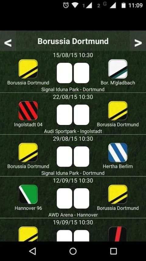 German League Table screenshot 4