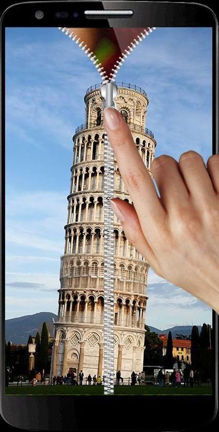Pisa Tower Zipper Screen Lock 7 تصوير الشاشة