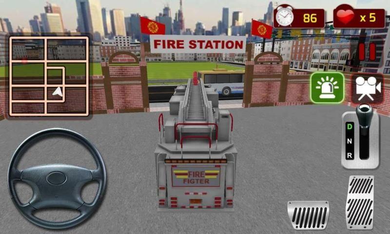 Firefighter Truck Simulator 3D 2 تصوير الشاشة