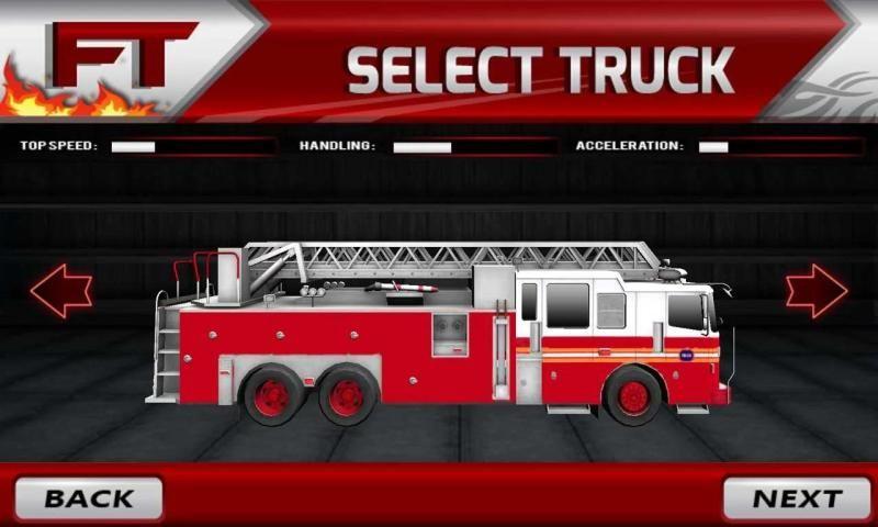 пожарный грузовик симулятор 3D скриншот 1