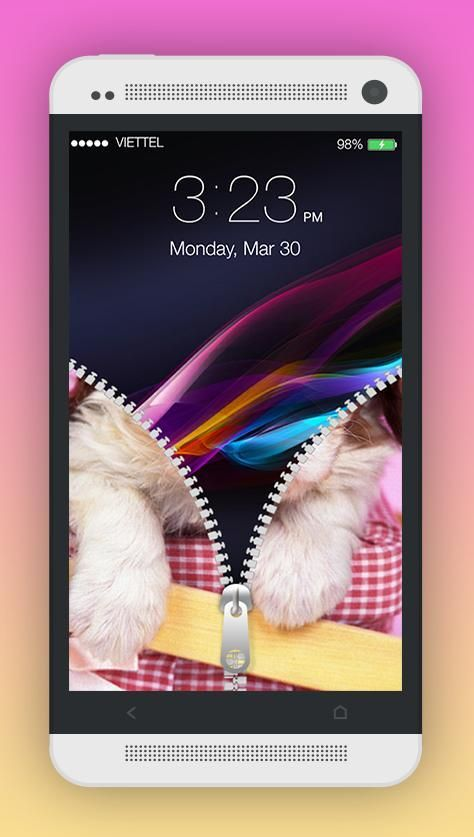 Cute Puppy Zipper Screen Lock 5 تصوير الشاشة