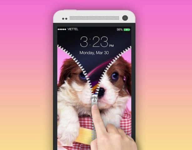Cute Puppy Zipper Screen Lock 7 تصوير الشاشة