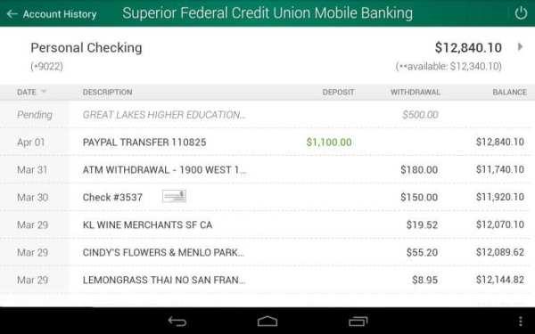 Superior Credit Union screenshot 4