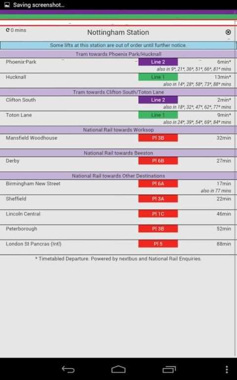 Nottingham Tram Live screenshot 3