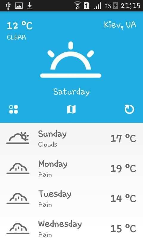 Weather Ukraine screenshot 1