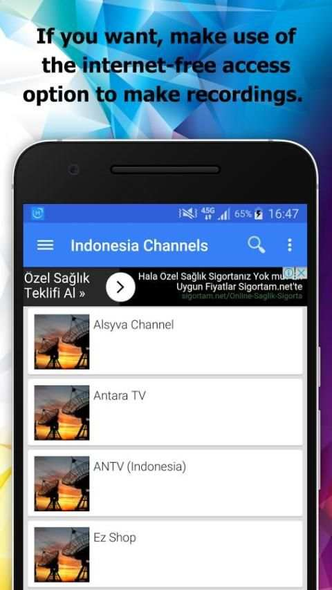 TV Indonesia Channels Info screenshot 1
