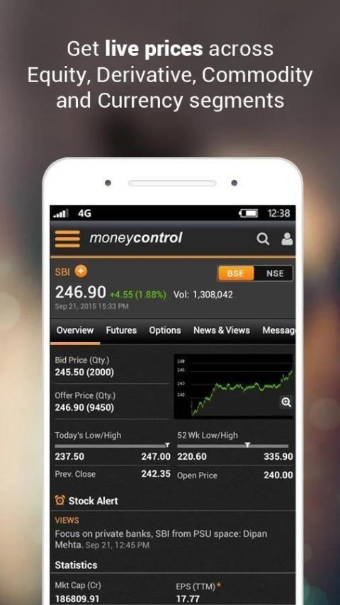 Moneycontrol Markets on Mobile 7 تصوير الشاشة