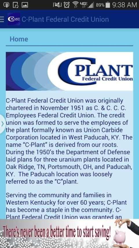 C-Plant Federal Credit Union screenshot 1