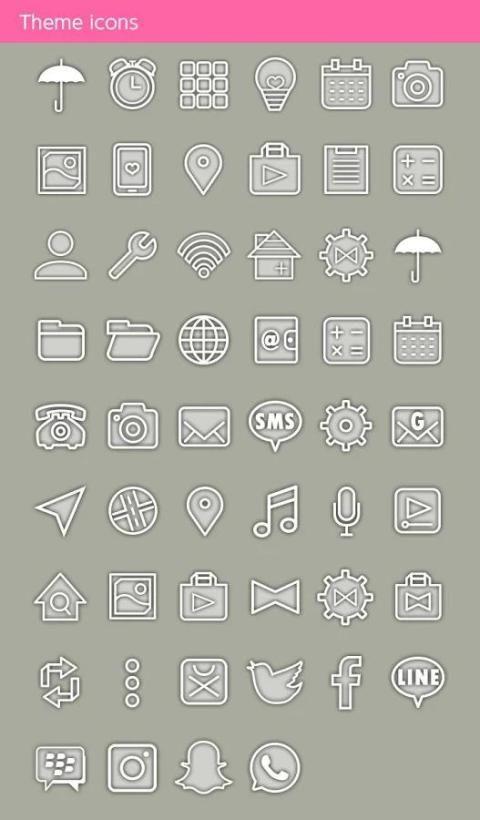 Umbrella Sky +HOME Theme screenshot 2