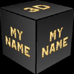3D My Name Live Wallpaper أيقونة