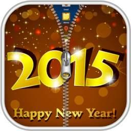 New Year 2015 Zipper Lock