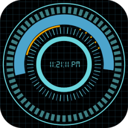 Animated Digital Clock Free icon