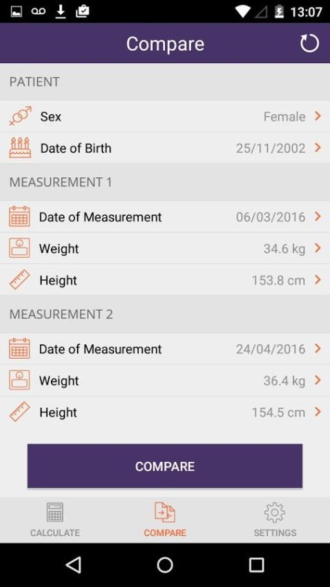Instant Weight For Height screenshot 8