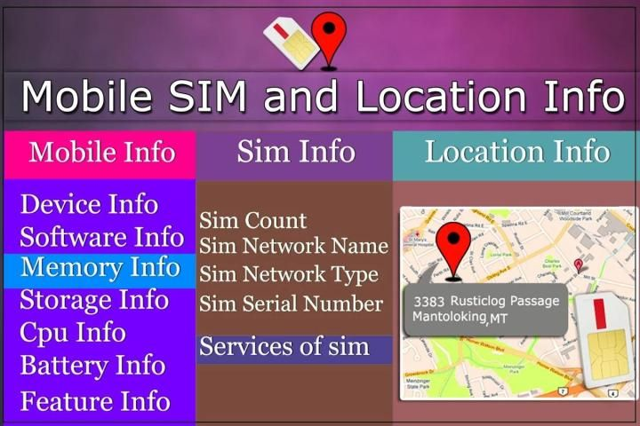 Mobile, SIM and Location Info screenshot 2