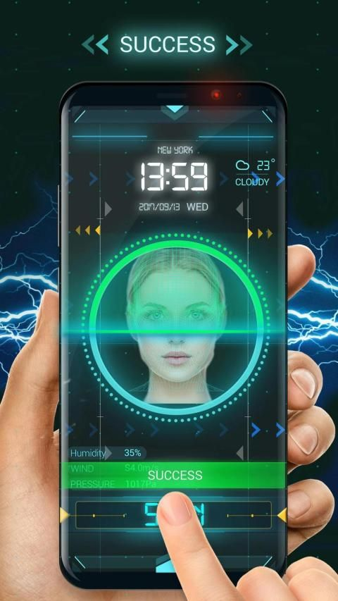 Face detection style lock screen for prank screenshot 5