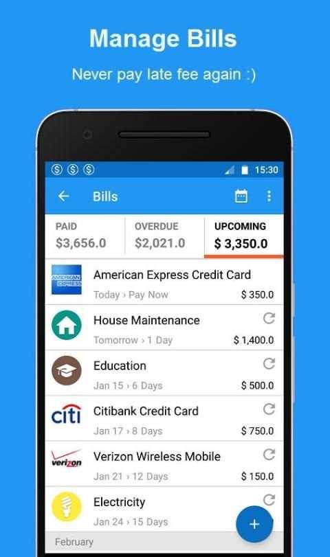 Bills Reminder, Budget & Expense Manager App screenshot 7