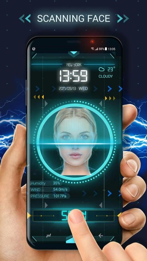 Face detection style lock screen for prank screenshot 6