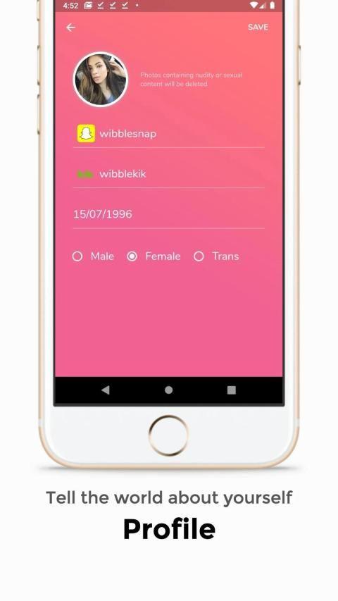 Wibble - friends for Snapchat and Kik screenshot 3