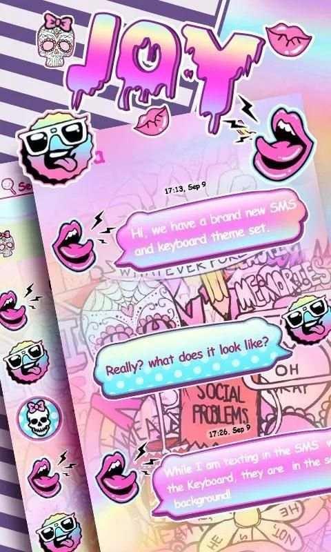 GO SMS PRO JOY THEME screenshot 5