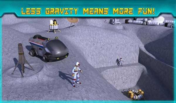 Space Moon Rover Simulator 3D screenshot 1