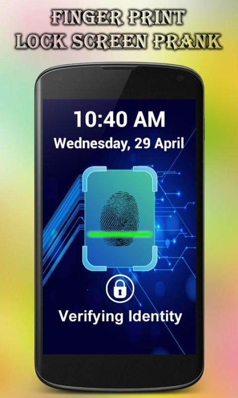 Fingerprint Lock Screen Prank screenshot 1