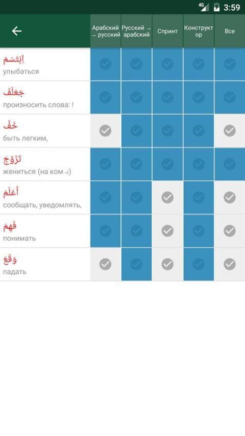 Арабус арабско-русский словарь screenshot 12