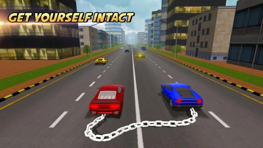 Highway Chained Car Race screenshot 2