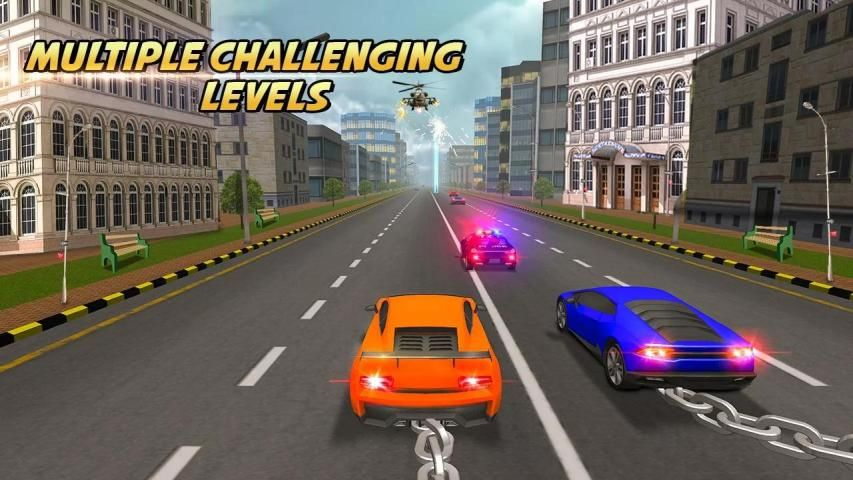 Highway Chained Car Race screenshot 3