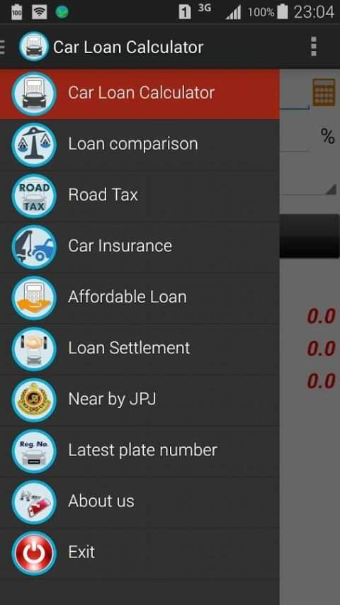Car Loan Calculator (Malaysia) screenshot 1