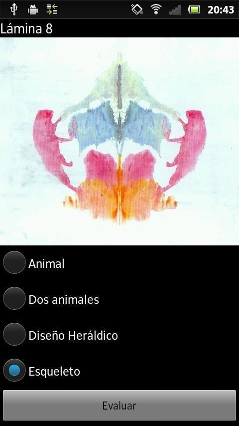 Test de Rorschach 6 تصوير الشاشة