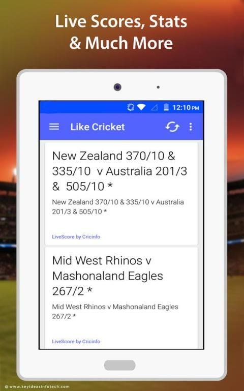 Like Cricket – Live Scores 4 تصوير الشاشة