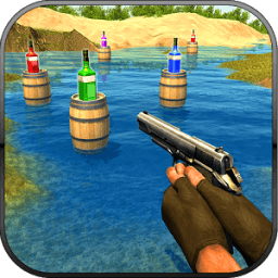 Real Gun Bottle Shooter Expert : 3D Shooting 2017 icon