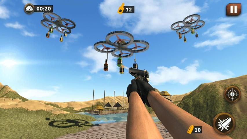 Real Gun Bottle Shooter Expert : 3D Shooting 2017 screenshot 2
