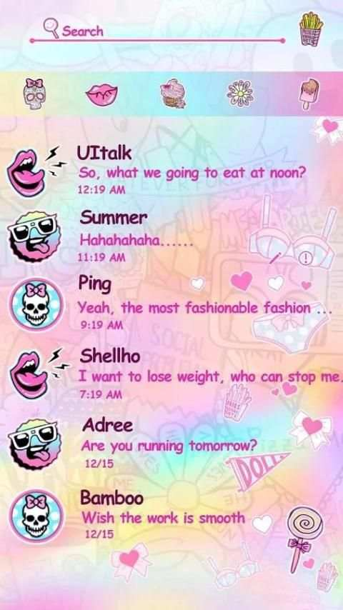 GO SMS PRO JOY THEME screenshot 4