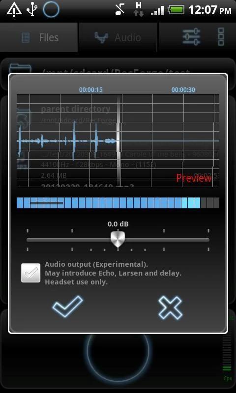 RecForge Lite - Audio Recorder 1 تصوير الشاشة