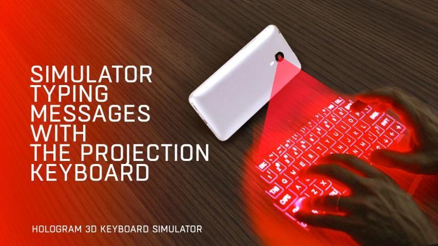 Hologram 3D keyboard simulator screenshot 2