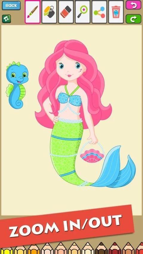 Little Mermaid Coloring Book screenshot 2