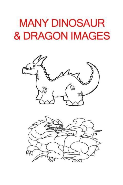 Dragon& Dinosaur Coloring Book screenshot 2
