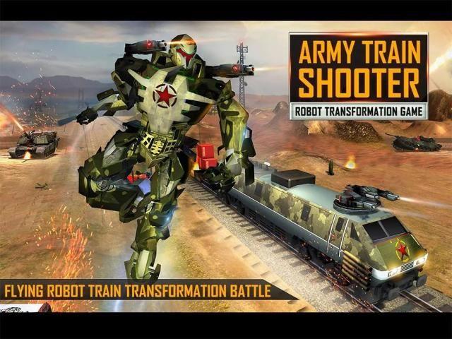 Futuristic Train - Army Robot Transform Shooter screenshot 8