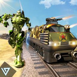 Futuristic Train - Army Robot Transform Shooter icon