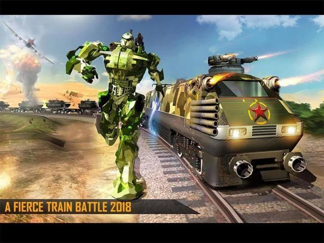 Futuristic Train - Army Robot Transform Shooter screenshot 4
