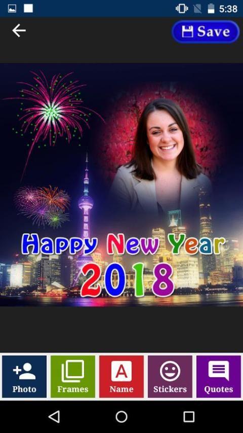 2018 New Year Greetings, Gif's and Photo Frames screenshot 4