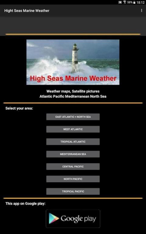 High Sea Marine Forecast 7 تصوير الشاشة