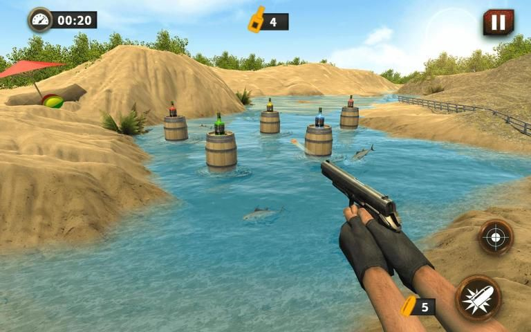 Real Gun Bottle Shooter Expert : 3D Shooting 2017 screenshot 8