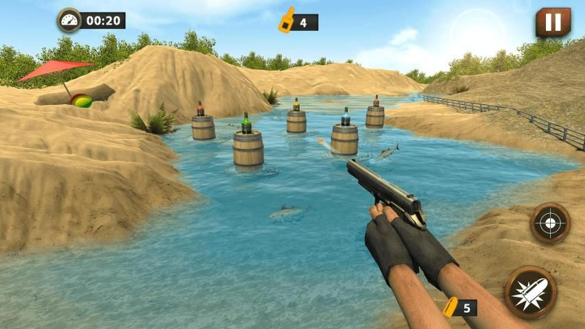 Real Gun Bottle Shooter Expert : 3D Shooting 2017 screenshot 4