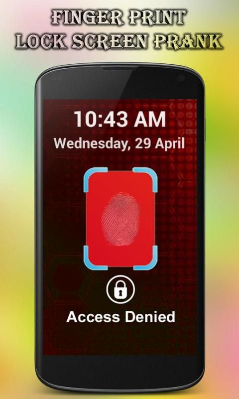 Fingerprint Lock Screen Prank screenshot 3