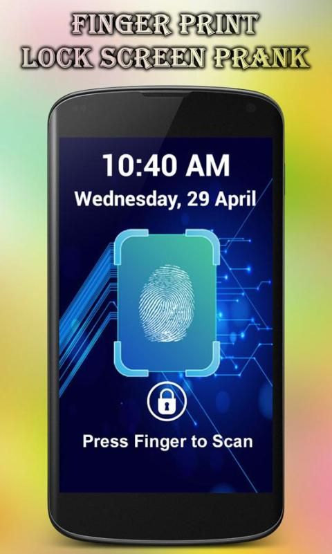 Fingerprint Lock Screen Prank screenshot 5