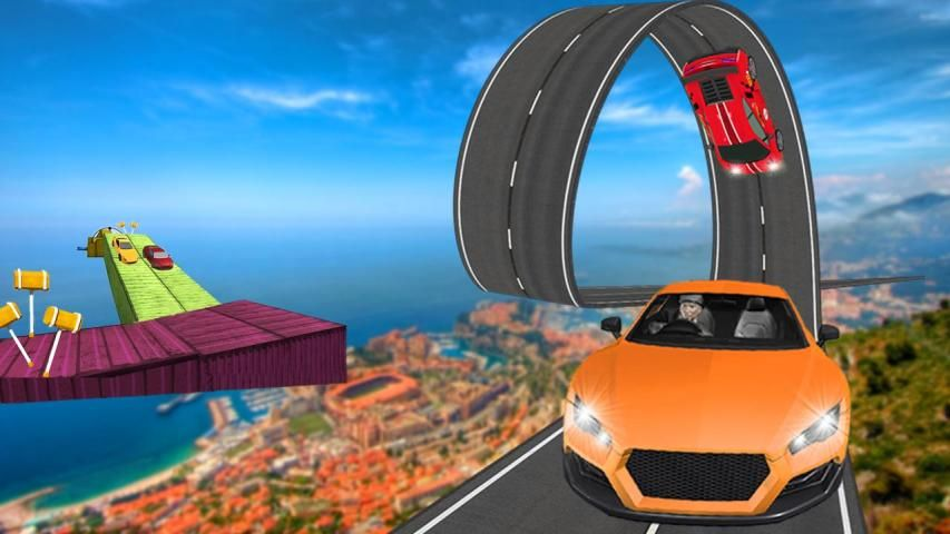 Real Stunt Amazing Car Road Race Top Drive screenshot 5