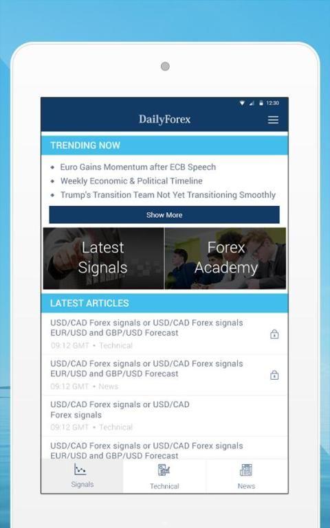 Forex Trading Signals & News 5 تصوير الشاشة