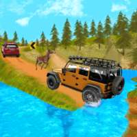 Offroad Dangerous jeep drive icon